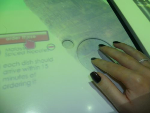 A touch screen table!