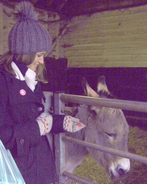 We also made friends with a donkey.
