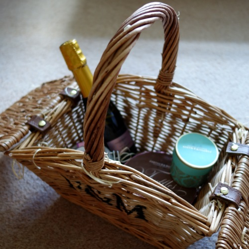 A Fornum & Mason picnic hamper filled with F&M goodies from Lu