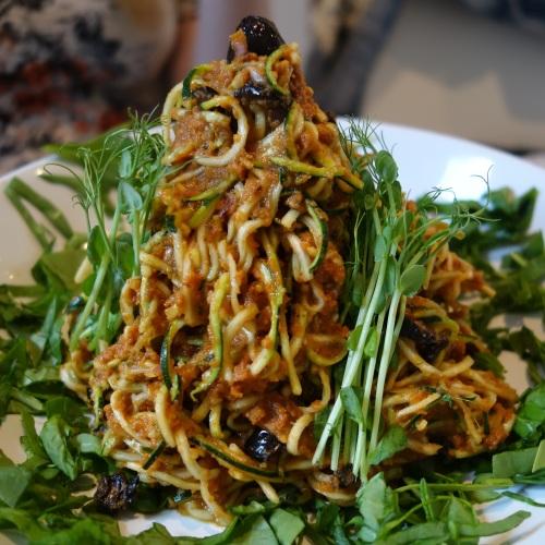Zucchina Pasta at Nama