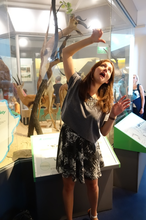 Niki at Natural History Museum