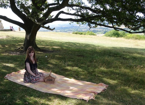 Gem on picnic rug