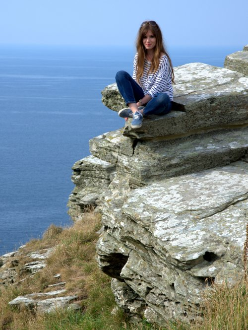 Me on the rocks at Tintagel